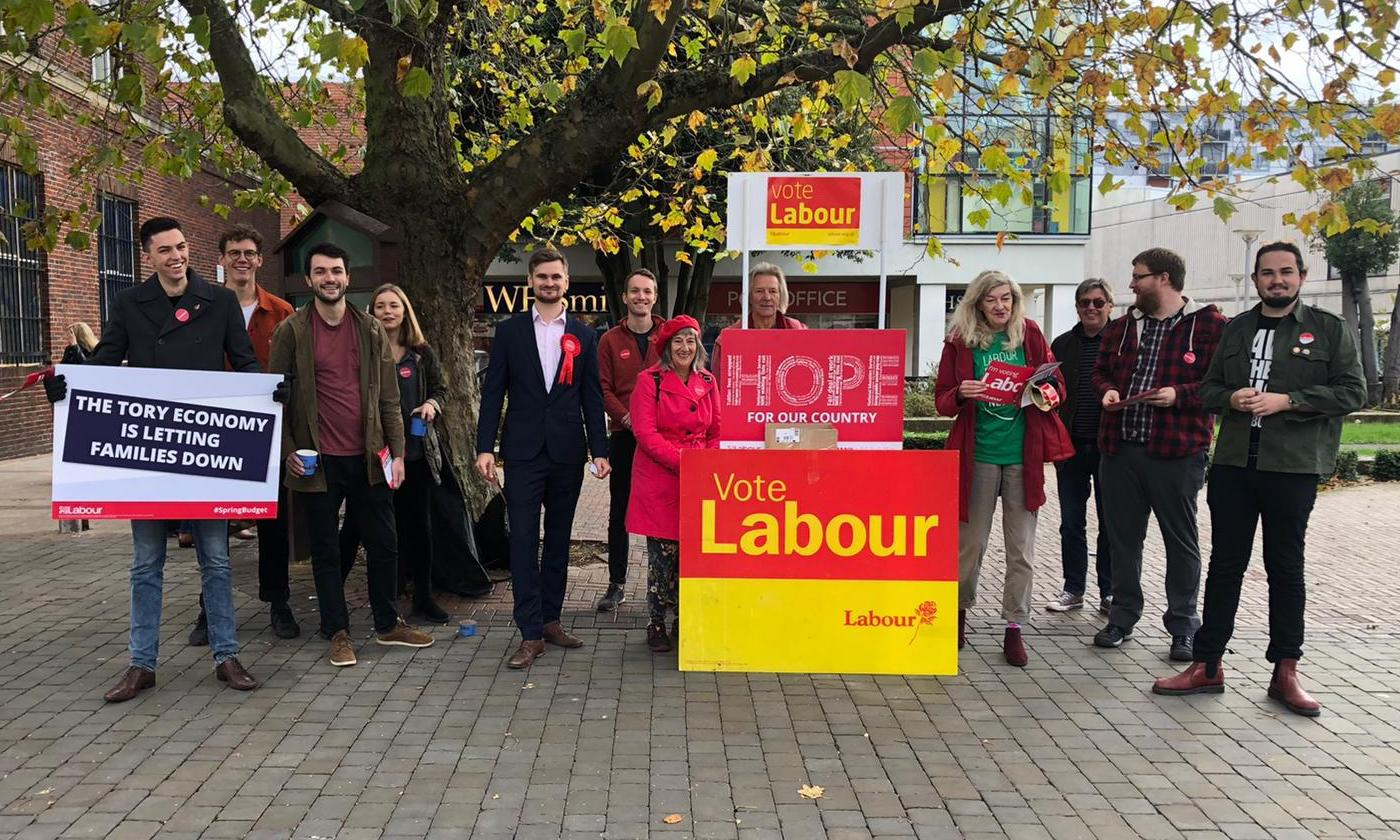 Brentwood and Ongar Labour Party campaigners in the high street