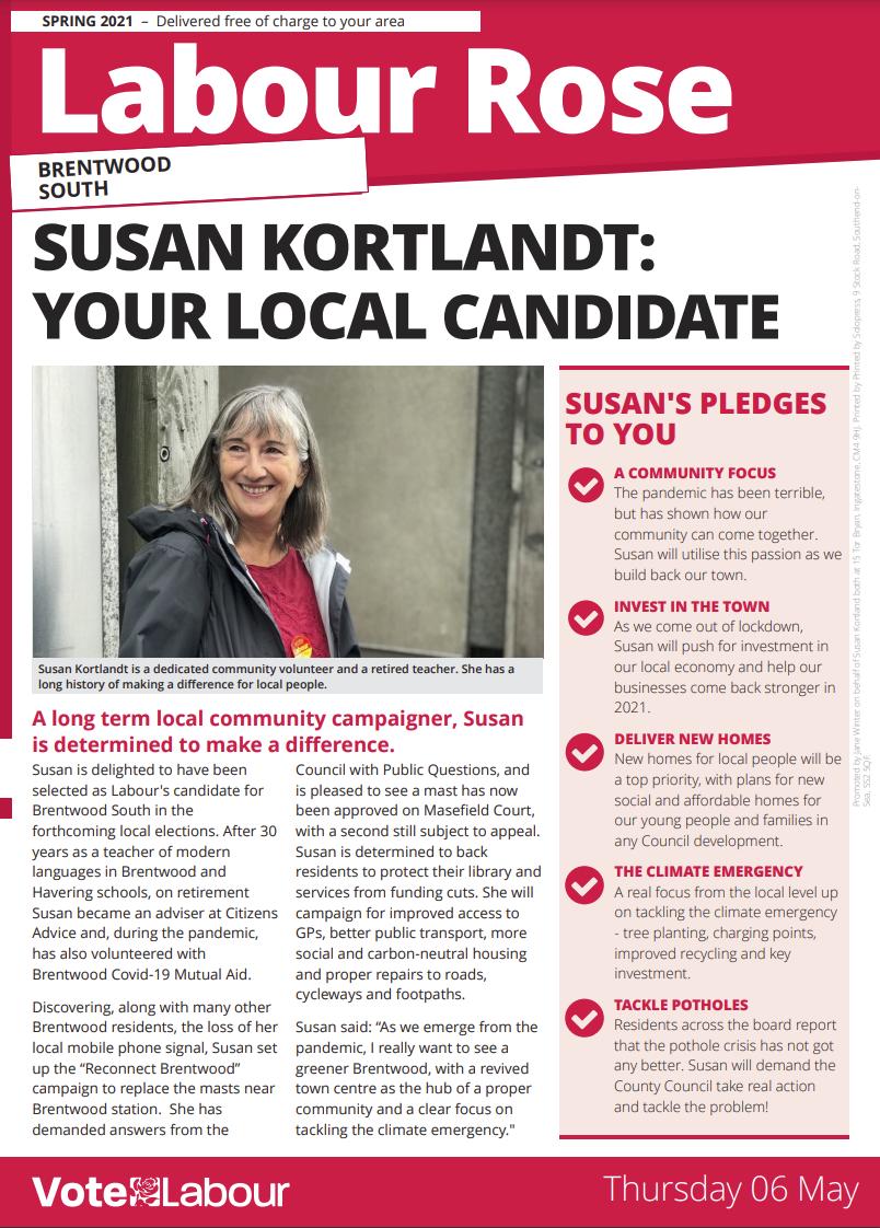 Labour Rose leaflet front cover